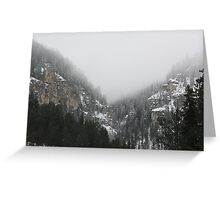 Fog In The Canyon Greeting Card