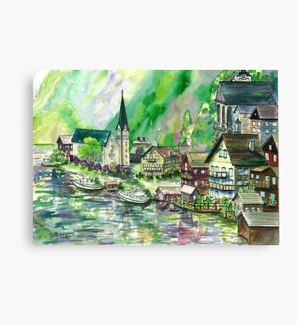 Austrian Village Canvas Print