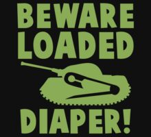 BEWARE loaded diaper in green One Piece - Short Sleeve