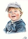 Little Boy Portrait by Nicole Zeug
