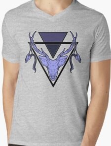 Triangle Deer Mens V-Neck T-Shirt