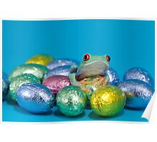 Easter frog Poster