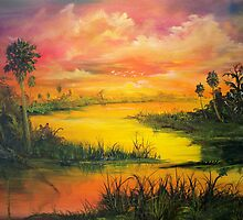 Marsh Sunset by firstglance