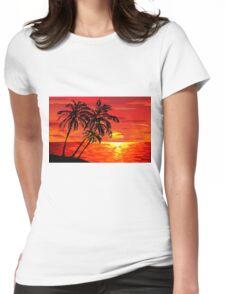 hawaiian sunset Womens Fitted T-Shirt