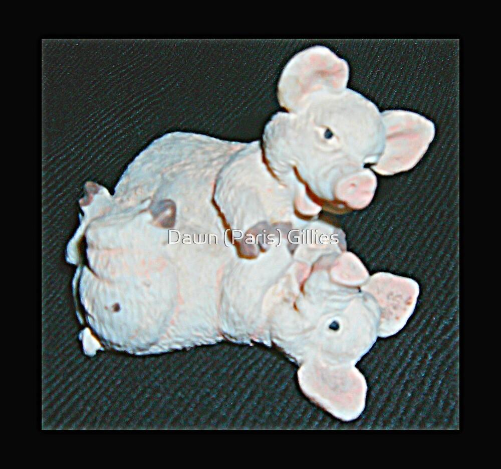 Playful Pigs by Dawn (Paris) Gillies