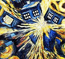 Doctor Who - Tardis Paint by Van Gogh by emapremo