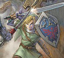 The Legend of Zelda - Link Fighting For Zelda by emapremo
