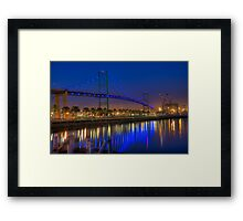 The Vincent Thomas Bridge Framed Print
