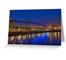 The Vincent Thomas Bridge Greeting Card