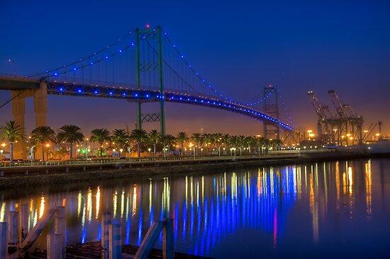 The Vincent Thomas Bridge by Eddie Yerkish