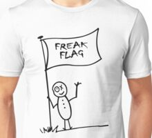 Freak flag geek funny nerd Unisex T-Shirt