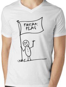 Freak flag geek funny nerd Mens V-Neck T-Shirt