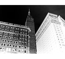 Dark empire state building Photographic Print