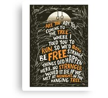 Hunger Games - The Hanging Tree Song Katniss Canvas Print