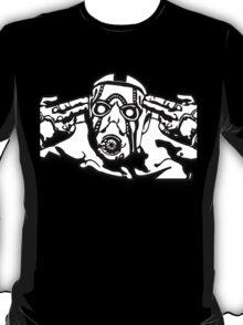 Borderlands - Psycho Black and White Design T-Shirt