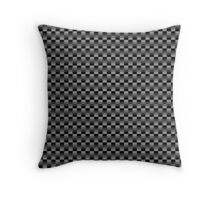 cool black and gray squares material pattern Throw Pillow