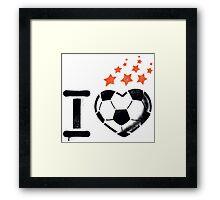 I love football (soccer) Framed Print