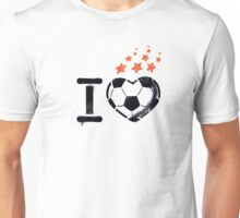 I love football (soccer) Unisex T-Shirt
