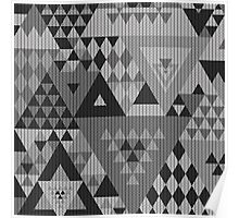 Triangulon - Grey Poster