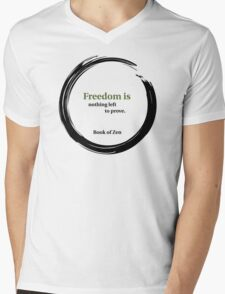 Inspirational Freedom Quote Mens V-Neck T-Shirt