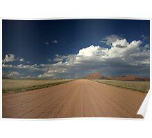 Dirty road across Namib desert Poster