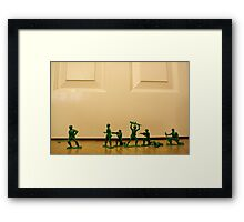Toy Story Recreation - Soldiers in Toy Mode Framed Print