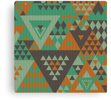 Triangulon - Mint Choc Orange Canvas Print