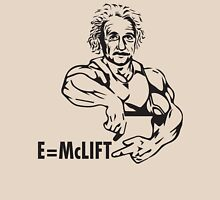 E=McLIFT - Albert Einstein - Gym Humor T-Shirt