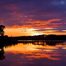 Sunset Over Gladhouse by Lynne Morris