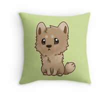 Chibi Dog Throw Pillow