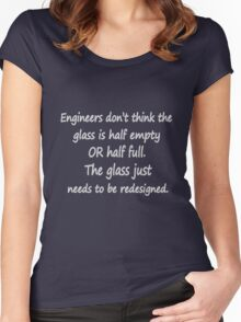 Funny engineer geek quote geek funny nerd Women's Fitted Scoop T-Shirt