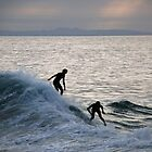 Surfers at Sunset - Laguna Beach, California by Phil Roberson
