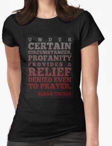 Mark Twain on Profanity Womens Fitted T-Shirt