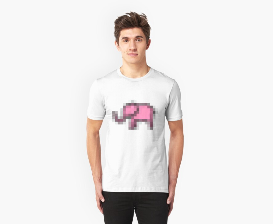 Pink Elephant - Pixel Art by Raudius