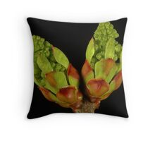 Lilac Buds Ready To Explode Into Color Throw Pillow