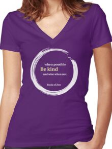 Inspirational Kindness Quote Women's Fitted V-Neck T-Shirt
