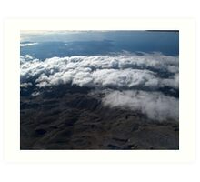 flying over the clouds  Art Print