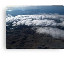 flying over the clouds  Canvas Print