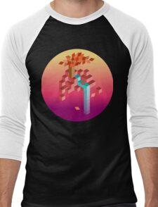 An isometric sunset Men's Baseball ¾ T-Shirt