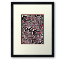 Designs in Red and Black Framed Print