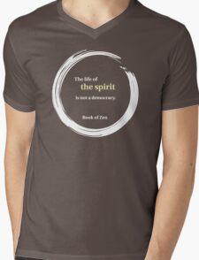 Spiritual Life Quote Mens V-Neck T-Shirt
