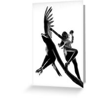 The Lady and the Eagle Greeting Card