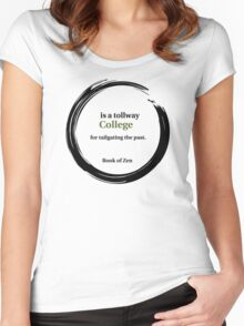 College Education Quote Women's Fitted Scoop T-Shirt