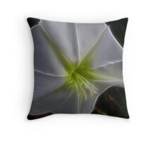 Majestic White Throw Pillow