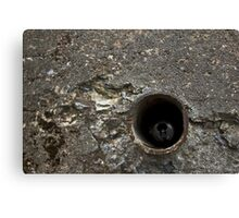 Garbage Pipe Canvas Print