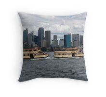 Ferry rush hour Throw Pillow