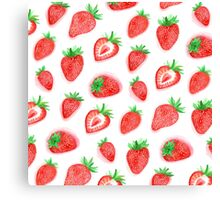 Watercolour Strawberries Canvas Print