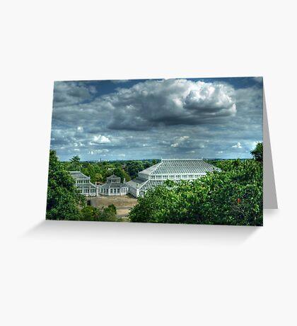 Temperate House Kew Gardens From Treetop Walkway Greeting Card