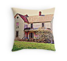 Imagine It's Colorful Past Throw Pillow