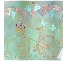Magical Bicycle Tour enchanted, whimsical art Poster